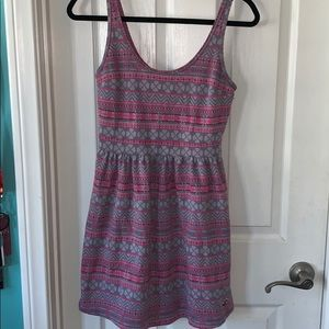 hollister • pink and grey dress